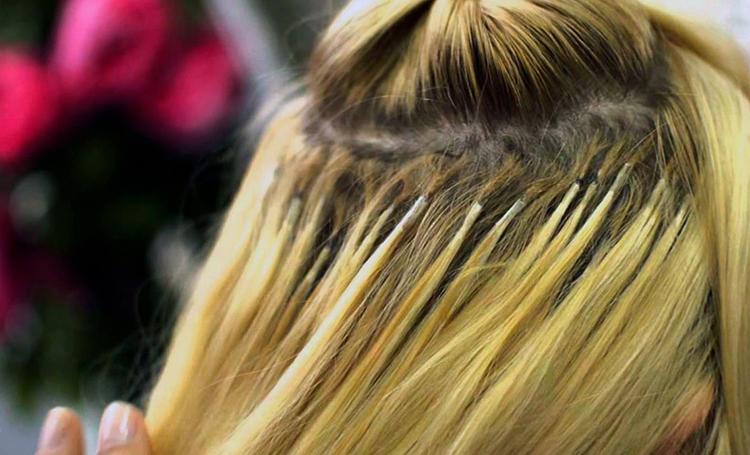 Нарощенные капсульно волосы