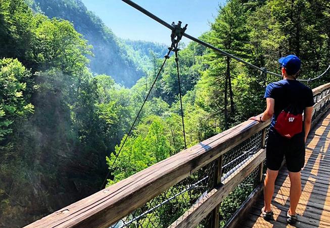 Турист в Грузии