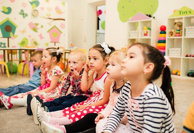 В частном детском саду