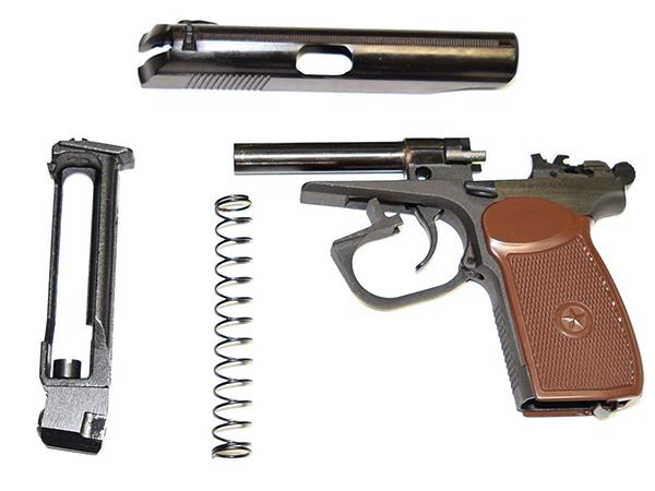 пневматический пистолет Макарова в разборе