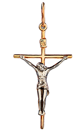 Золотой крестик с иисусом