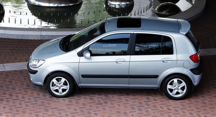Hyundai Getz в профиль