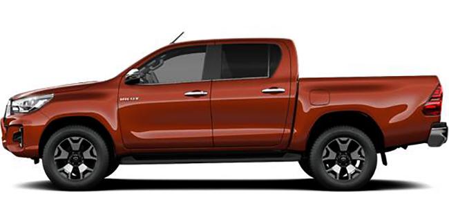 Toyota Hilux в профиль