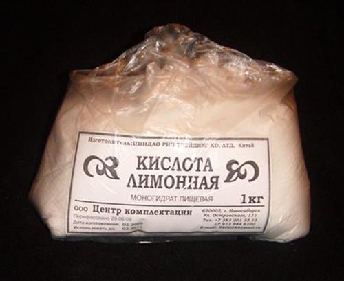 1 кг лимонной кислоты