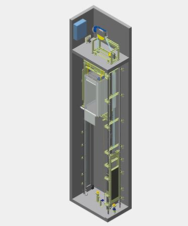 Лифт с машинным отделением