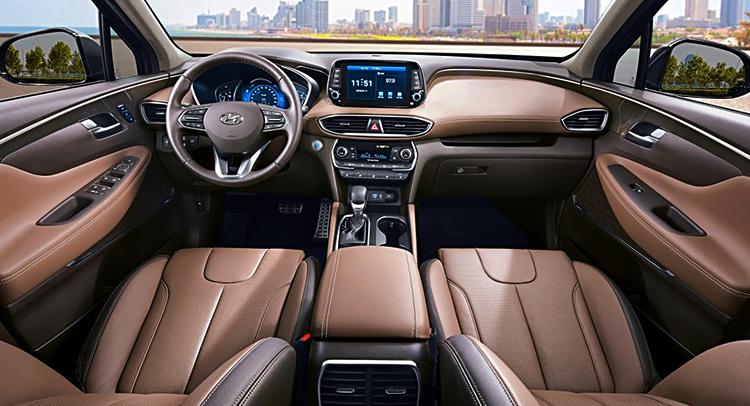 Интерьер Hyundai Santa Fe