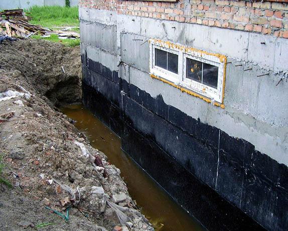 Вид гидроизоляции фундамента