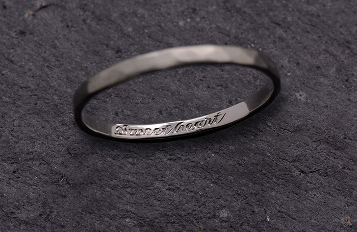 Гравированное кольцо