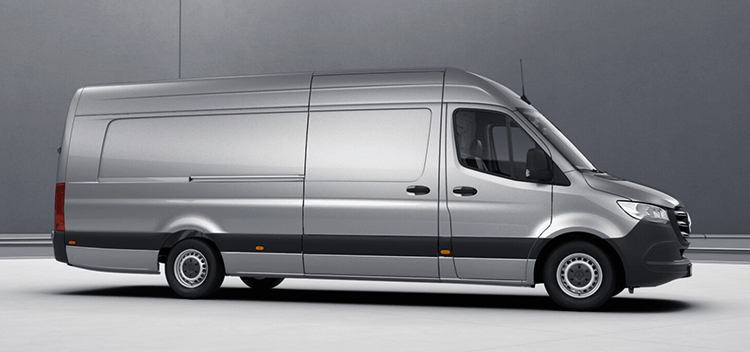 Mercedes-Benz Sprinter в профиль