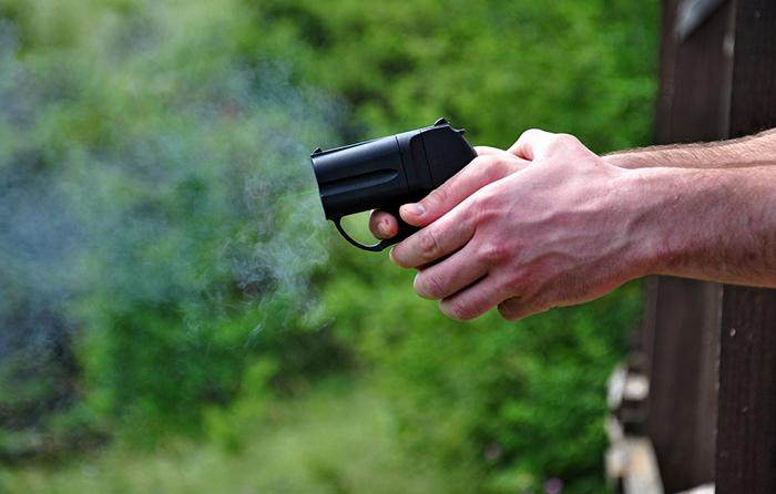 Применение пистолета «Оса»