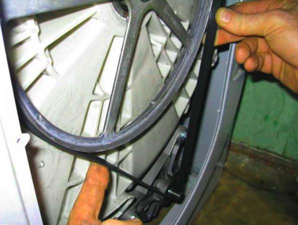 Установка ремня на стиральную машину