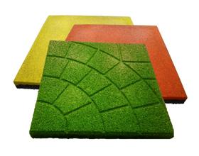 Сколько стоит резиновая плитка для дорожек?