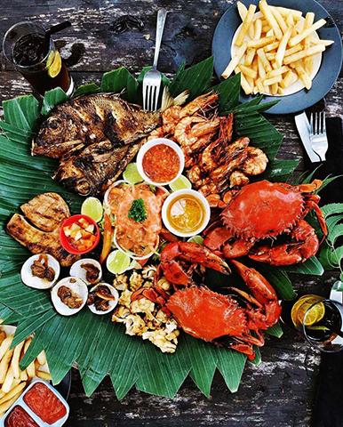 Морская еда на Бали