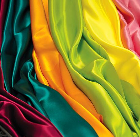 Разноцветный шелк