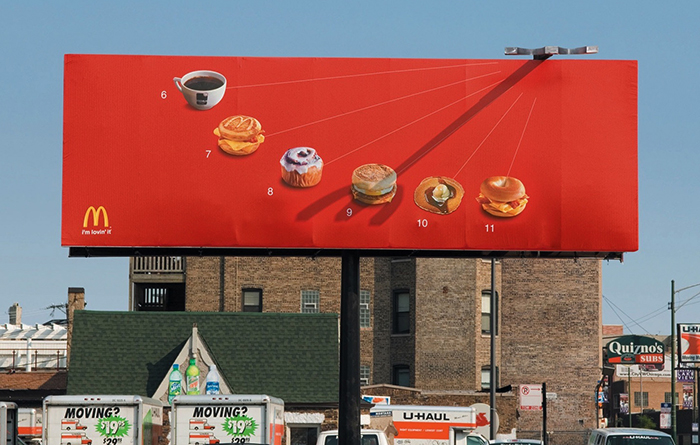 Современная реклама на билборде