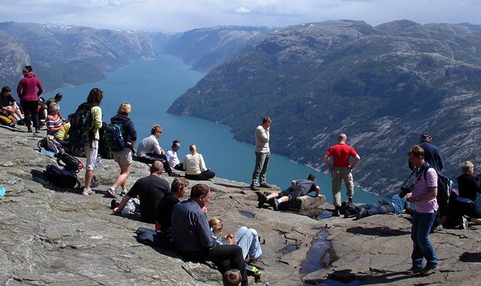 Туристы в Норвегии