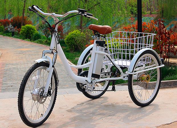 Красивый взрослый трехколесный велосипед