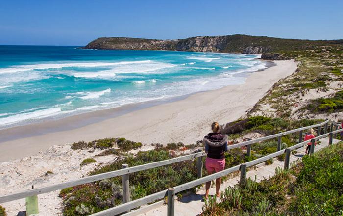 Турист в Астралии