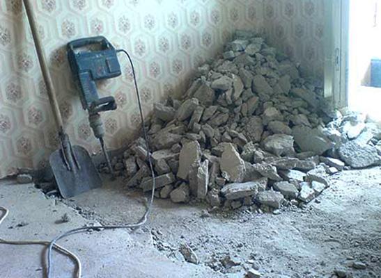 После демонтажа