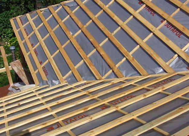 Крыша после гидроизоляции