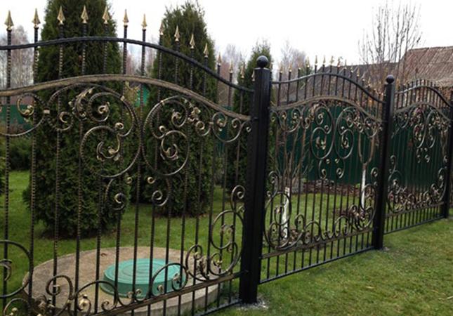 Новый кованый забор