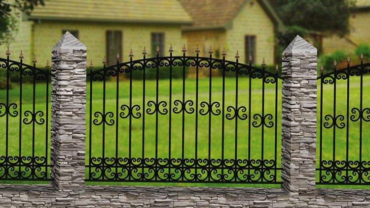 Красивый кованый забор