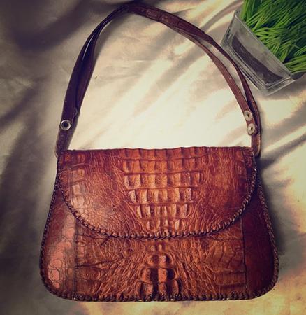 Новая сумка из кожи крокодила