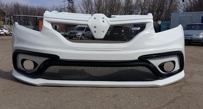 Передний бампер на Renault Logan