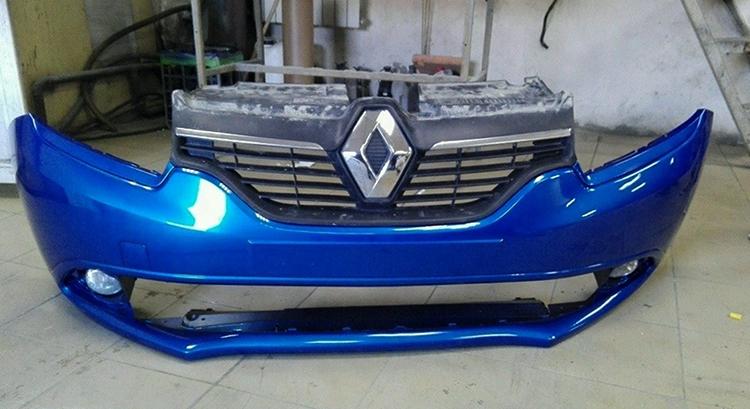 Бампер на Renault Logan