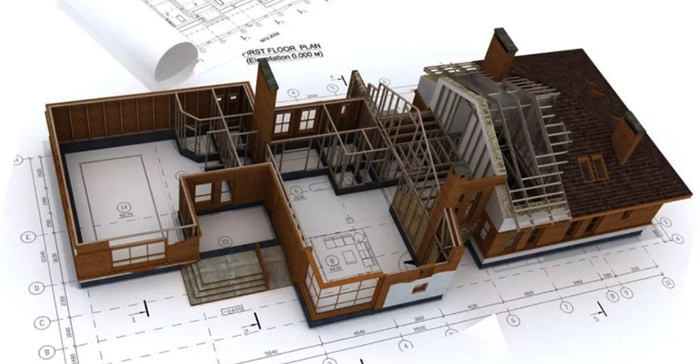 План дома и пристройки