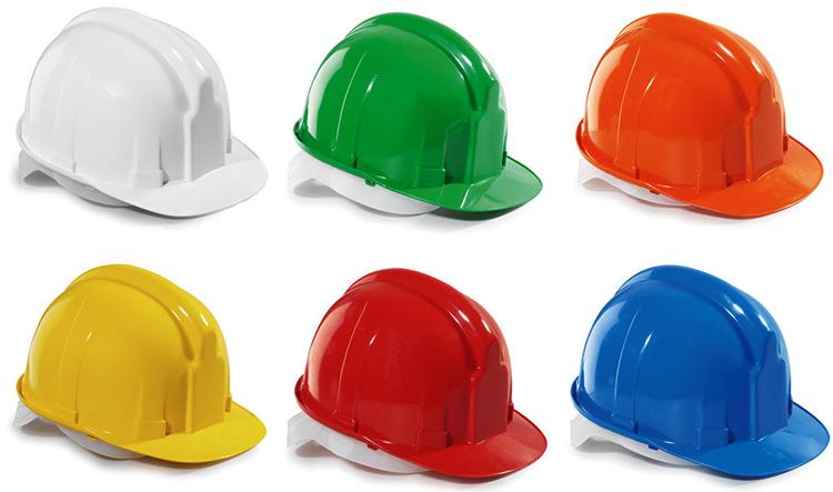 Разноцветные строительные каски