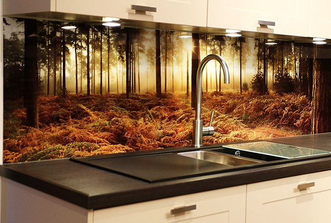 Новый стеклянный фартук для кухни