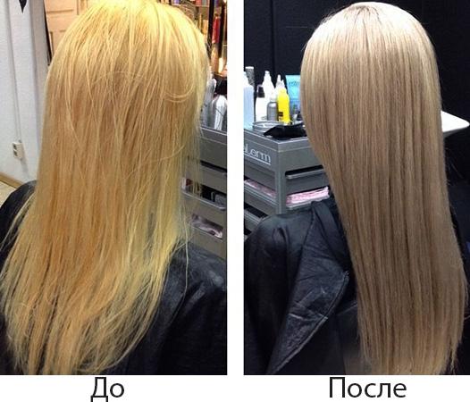 До и после тонирования