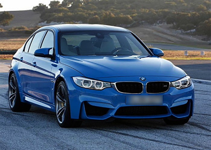 Синий BMW M3