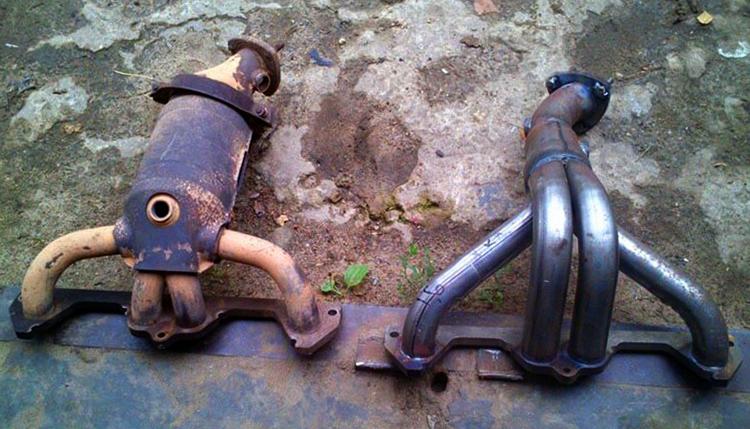 Новый и старый катализатор на ВАЗ 2114