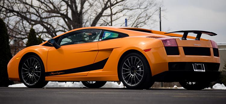 Оранжевый Lamborghini Gallardo