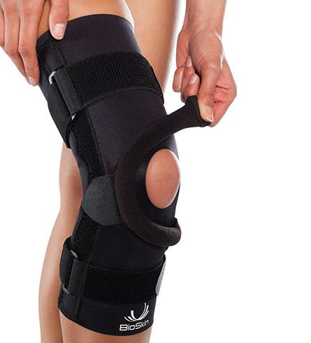 Использование ортеза для коленного сустава