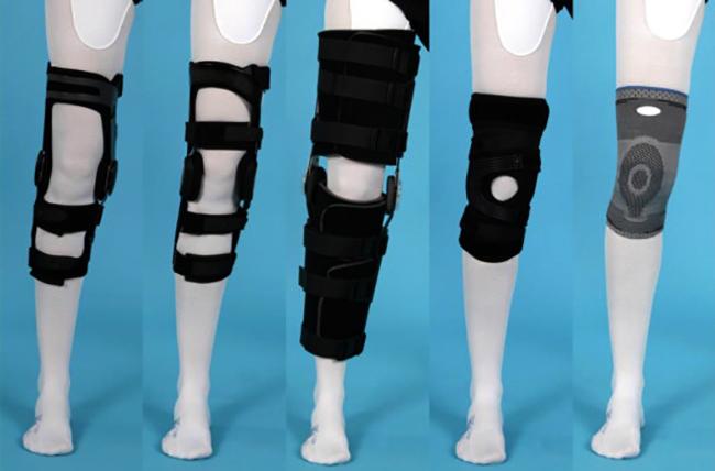 Разные виды ортезов на коленный сустав