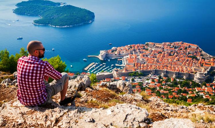 Турист в Хорватии