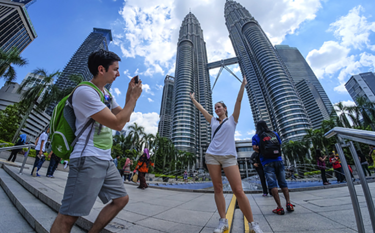 Туристы в Куала-Лумпуре