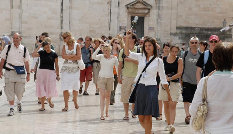 Туристы в Хорватии