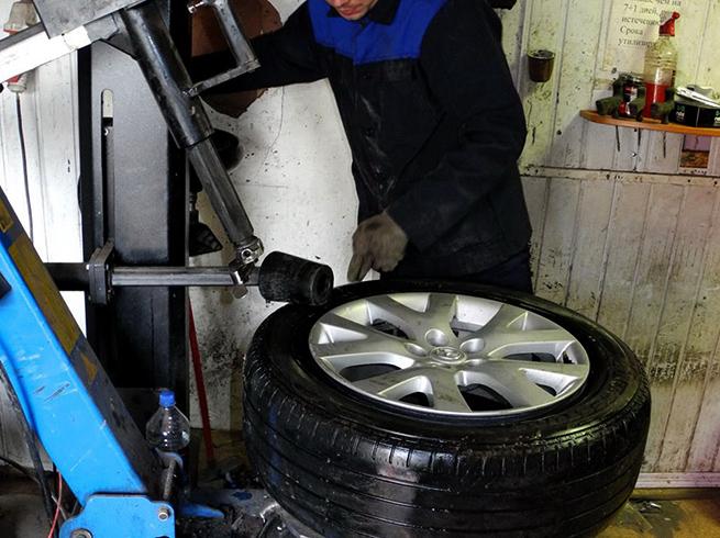 Процесс вулканизации колеса