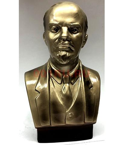 Металлический бюст Ленина
