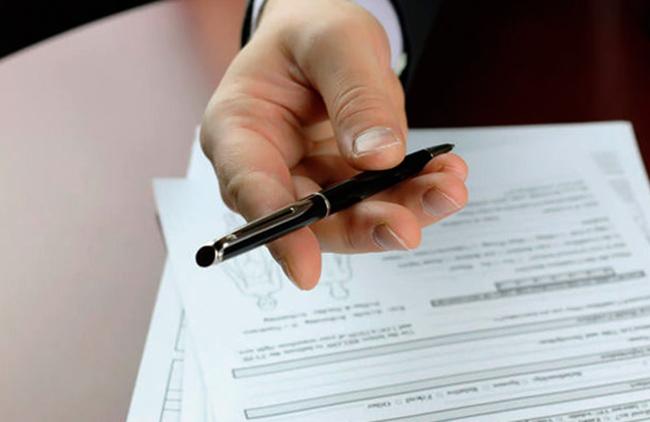 Подписание документов у нотариуса