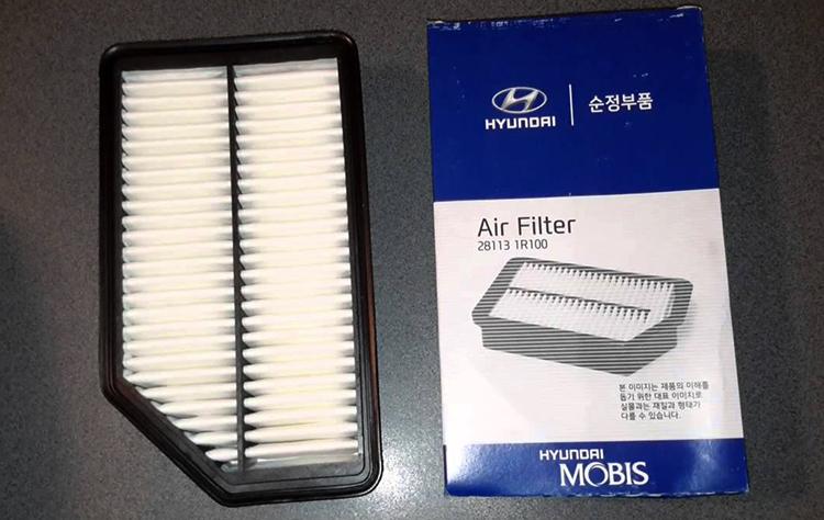 Новый воздушный фильтр на Hyundai Solaris