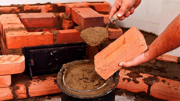 Использование шамотной глины для печи