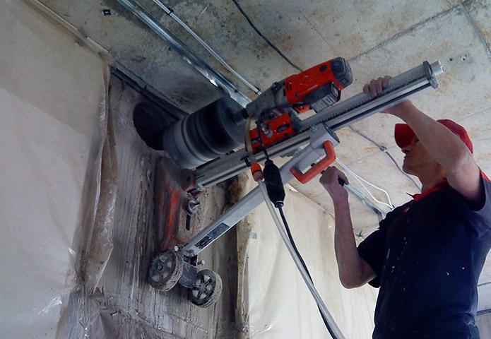 Бурение стен под вентиляцию специалистом