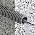 Сколько стоит прокладка кабеля в гофре?