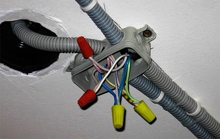Много кабелей в горфе