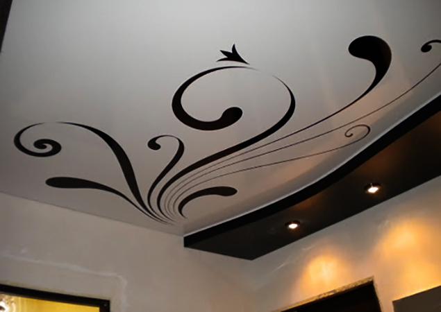 Новый натяжной потолок с фотопечатью